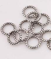100 Chic Tibetan Silver Circle Rings Spacer Beads Jewelry Finding Accessory 8mm