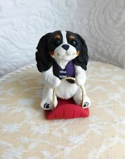 3 Tiny Cavalier King/'s Charle Dogs Dollhouse Miniature Clay Animal Figurine-15
