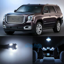11x  Xenon White SMD LED Interior Light Kit For 2007-2014 GMC Yukon XL Denali WK