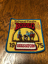 Hesston Nfr 1975 National Finals Rodeo Emroidered Patch Mint Condition Unused