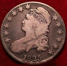 1825 Philadelphia Mint Silver Capped Bust Half Dollar