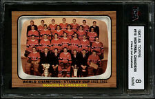 1966-67 TOPPS HOCKEY~#118~MONTREAL CANADIENS~STANLEY CUP CHAMPIONS~KSA 8 NM-MT