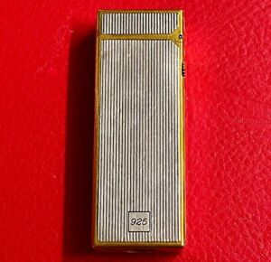 SOLID 925 STERLING SILVER GOLD BUTANE DUNHILL CIGARETTE LIGHTER