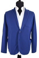 Hardy Amies NWT Sport Coat / Sweater Size L In Solid Royal Blue Merino Wool