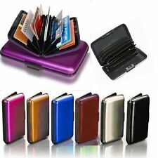 Aluminum Aluma Hard Case Credit Cards Wallet (Assorted 6 Pack), Free Shipping