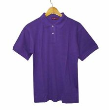 NEW! BOSTON MEN'S CLASSIC PLAIN PIQUE POLO/SPORT SHIRT (VIOLET, SIZE SMALL)