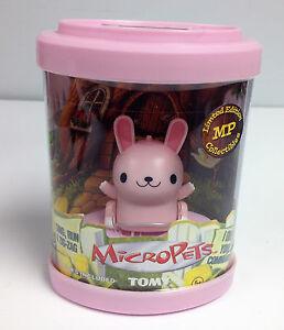 Tomy Micropets Bunny Rabbit Pink 2002 Vintage RARE MIB