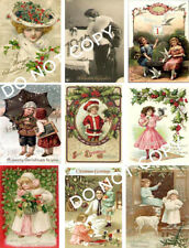 Vintage Christmas Label Images Collage Sheet A28