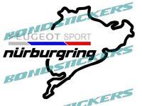 Vinilo de corte pegatina sticker decal NURBURGRING PEUGEOT SPORT 208 308 GTI