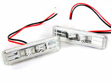 For BMW 97-03 E39 CHROME CLEAR LED SIDE MARKER REPEATER INDICATOR M5