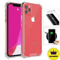 For iPhone 11/ 11 Pro/ 11 Pro Max Clear Case Shockproof Slim Hybrid Hard Cover