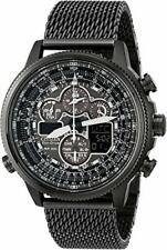 Citizen JY8037-50E Eco-Drive Navihawk A-T Black IP Stainless Steel Watch