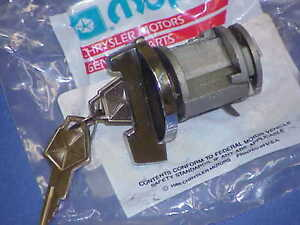 NOS MoPar Ignition Lock CYLINDER & KEYS Cuda Charger Runner 70 71 72 73 74 75-78