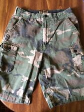 Boys Size 16 Vintage Carpenter Shorts, Camo Print, Pre Owned, In Good Shape