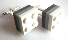 NEW LEGO TRIPLE PLATE Cufflinks SILVER PLATED - FREE POSTAGE + FREE GIFT BAG
