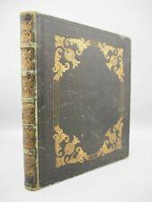 More details for victorian era scrap book album, full leather, gilt tooling