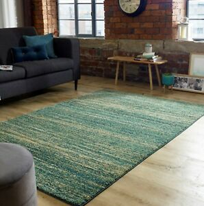 Nova Enola Green Coloured Abstract Tribal Style Rug  in various sizes and runner