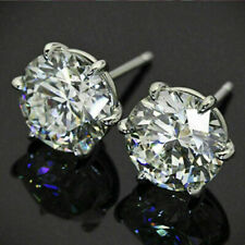 4.00Ct Round Cut Moissanite Gorgeous Push Back Stud Earrings 14k White Gold Over