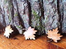 X100  Wedding Table Decoration Little Wooden Maple Leaf Confetti Craft Shapes Uk