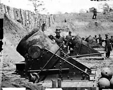 "New 8x10 Civil War Photo: Battery No. 4, 13"" Mortar Cannons at Yorktown - 1862"
