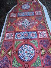 "VTG Fabric Ethnic Very Vibrant colors  Pattern 7 1/2 Yds x 56"" screen print look"