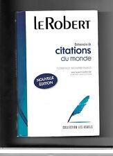 Citations du monde - dictionnaire Le Robert