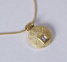 Moderne Trend Kette gold plated Anhänger Swarovski Elements Crystal Kristall Neu