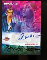 2019 Panini Hoops Rookie Ink Auto Card Zach Norvell Jr. Lakers Mint Sharp