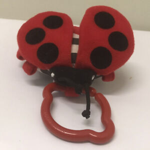 Tiny Love Ladybug Toy Ring Crinkle REPLACEMENT? Squeak Insect Vtg Baby Stroller