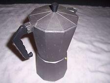 Large Charcoal Aluminium Stovetop Espresso Coffee Maker Italian Bialetti Style
