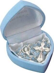 Boy Rosary Beads My First Rosary Blue Children's Christening Gift Baptism New
