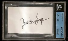 Jessica Lange Blue Sky Oscar Academy Award Signed Auto Index Card JSA Certified