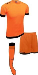 Soccer Lime Orange and Black Sarson Bremen Uniform Kit Jersey Shorts and Socks