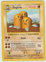 Pokemon Card Shadowless Unlimited Edition Rare Base Set 1999 Dugtrio 19/102