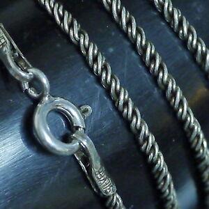 Silberkette L:61cmx1,6mm  925Silber geschwärzt f.Mittelalter Anhänger Phiole K3