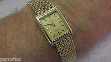 "Woman's Classic 14k Gold ""Geneve"" Gold Watch Hassle free Quartz 7-1/4 inch"