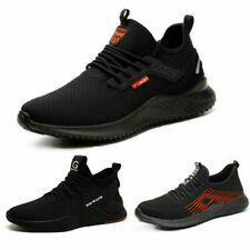 Men women Safety Shoes Mesh Ultralight Breathable Steel Toe Cap Work Trainers