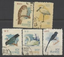 "No: 50815 - Korea - ""Birds"" - Lot Of 5 Old Stamps - Used!"