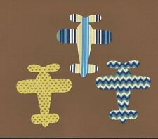 Boy's Airplane Iron On Applique Multi-Colored  Great for Baby Shower Parties