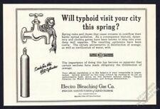 1925 death reaper art typhoid theme Electro Bleaching Gas vintage print ad