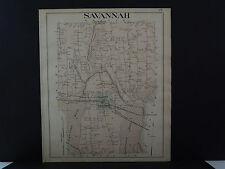 New York, Wayne County Map, 1904 Township of Savannah Q3#27