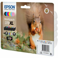 Epson Ink/378XL Squirrel 830 Page Yield, CLcMLmYK - C13T37984010