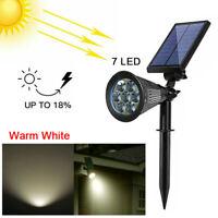 7LED Solar Spot Lights Wall Outdoor Garden Yard Path Lamp Security Waterproof