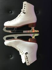Beautiful Ladies Riedell Ice Skates Size 8-Top Of The Line-Made In USA/England