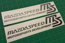 Mazda speed MS 3 miata Sporty RX8 MX5 MX-5 RX7 300mm decals stickers any colour