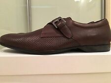 Versace Collection Brown Mens 100% Leather Dress Shoes EU 42 BNIB