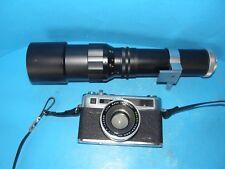 YASHICA ELECTRO 35 GSN 35mm RANGEFINDER FILM CAMERA & LENTAR 400mm LENS