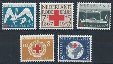 NETHERLANDS 1957 SG850-854 90th Anniv of Netherlands Red Cross Society  Mint MNH