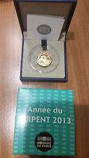 Frankreich 50 Euro Goldmünze 2013 PP La Fontaine Lunar Serie: Jahr der Schlange