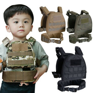 Children Kids Military Molle Plate Carrier Combat Vest with Patrol Belt